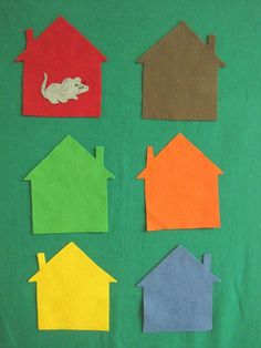 Flannel Friday: Little Mouse in the House Flannelboard Game - RovingFiddlehead KidLit Flannel Board Stories, Felt Board Stories, Felt Stories, Flannel Boards, Color Activities, Classroom Activities, Preschool Activities, Classroom Ideas, Library Activities