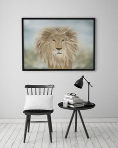 PRINT  LION / Tiplers' Safari: Illustration Print. by ekinakis