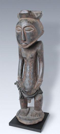 A Great Ancestor-figure of the Kusu-people, Congo