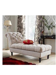 Laurence Llewelyn-Bowen Portigo Fabric Chaise Lounge | very.co.uk