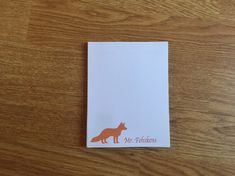 Personalized Notepad, Teacher Gift, Personalized gift, Custom Notepad, Parent NotePad, Fox Stationery by PenguinPartyPress on Etsy https://www.etsy.com/ca/listing/474584178/personalized-notepad-teacher-gift