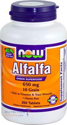 Alfalfa 650mg 10 Grain