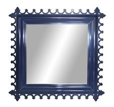 newport mirror square club navy, $1,155 from Oomph. A great mirror will open up a dark, tiny entry.