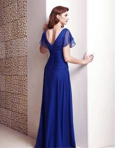 I love Cobalt Blue and I love the cap sleeves!