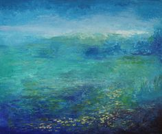 Summer Blue 30x36 Chester, Landscape Paintings, Sculpture, Water, Summer, Blue, Art, Gripe Water, Art Background