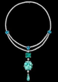 White gold Aquamarine Diamond Necklace - Piaget Luxury Jewellery G37L9700: