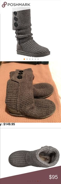 UGG Australia grey sweater boots Only worn a couple of times, perfect condition. Orig $149. Just in time for cold weather! UGG Shoes Winter & Rain Boots
