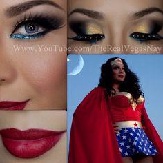 Wonder Woman eye look for halloween Halloween Make Up, Halloween Party, Halloween Face Makeup, Halloween Costumes, Halloween Ideas, Wonder Woman Birthday, Wonder Woman Party, Disfraz Wonder Woman, Wonder Woman Makeup