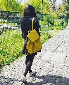 Yellow bag from Zara