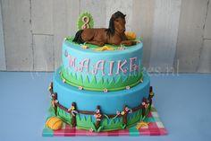 Paarden-taart voor Maaike.