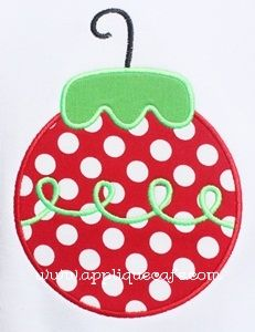 Ornament from Applique Cafe
