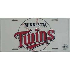 LP - 610 Minnesota Twins MLB Baseball License Plate - 679, As Shown