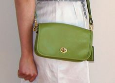#coachclassic lime green shoulder bag recently purchased at the #bloorstreet store.