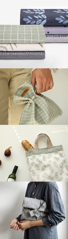 Pouches, bags, and hair accessories. What will you design and sew with this linen fabric set?
