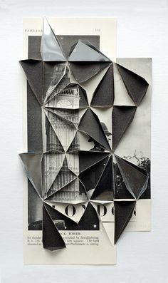 Available for sale from Parafin, Abigail Reynolds, Clock Tower 1947 / 1938 Found book pages, 34 × cm Photography Collage, Memories Photography, Iphone Photography, Product Photography, Boudoir Photography, Fashion Photography, Geometric Shapes Art, Art Alevel, Reflection Art
