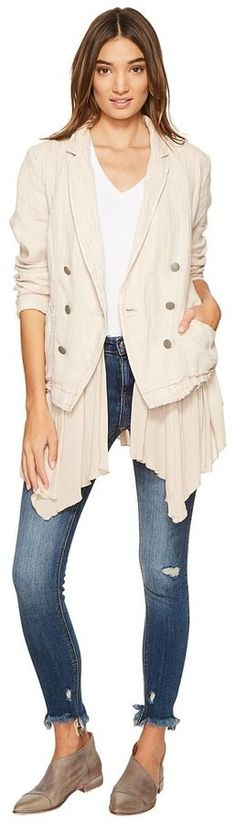 Free People - Layered Ruffles Blazer Women's Coat