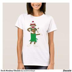 Sock Monkey Ukulele T-Shirt on Zazzle @zazzle #zazzle #tshirt #shirt #funny #cute #monkey #cartoon #drawing #digital #acoustic #guitar #pop #culture #buy #shop #sale #gift #idea #shopping #present #fun #sweet #awesome  #men #women #fashion #style