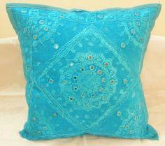 Decorative Indian Cushion Pillow Covers Sofa Ethnic Home Decor Vintage Art India