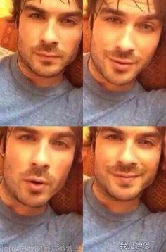 Love him loads♥ Damon Salvatore, Ian Somerhalder Photoshoot, Boone Carlyle, Ian And Nikki, Ian Somerholder, Vampire Boy, Bae, Hot Vampires, Hello Brother