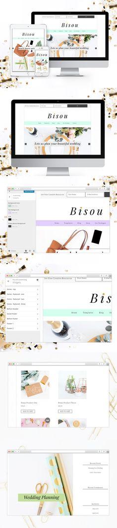 Bisou Genesis Child Theme . WordPress eCommerce Themes. $50.00
