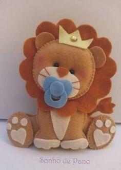 Resultado de imagem para leão em feltro sentado