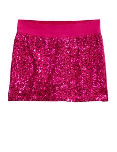 Sequin-front Skirt