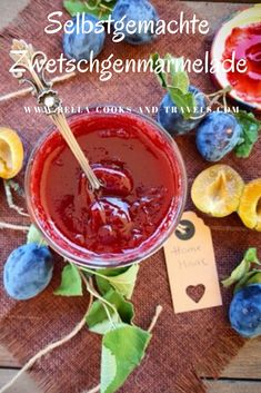 Zwetschgenmarmelade á la Italia :: Bella-cooks-and-travels Chutneys, Marmalade, Chocolate Fondue, Food And Drink, Homemade, Cooking, Sweet, Desserts, Recipes
