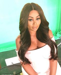 Is that you Kim? Blac Chyna showed off her Kardashian makeover on Wednesday as she filmed a segment for her reality show