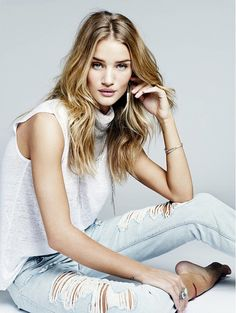 Rosie Huntington-Whiteley for Paige Denim's S/S '15 Campaign // via @instylemag