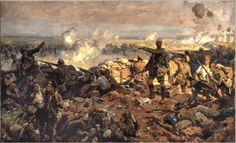 World War I Art: The Second Battle of Ypres, 22 April to 25 May 1915 by Richard Jack Military Art, Military History, Military Diorama, World War One, First World, Second Battle Of Ypres, Battle Of Passchendaele, Ww1 Art, Canadian Army