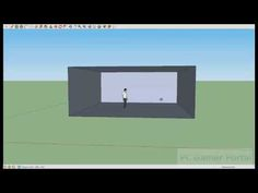 Google Sketchup Beginner Tutorial, a digital platform for teaching students 3-d construction of spaces and or perspective.