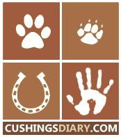 Cushings Diary for cushingoid dogs, cats, horses, and humans dealing with Cushings Disease and cushings syndrome