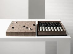 Walnut game CHECK-MATE By Giorgetti Modern Toys, Calacatta, Game Pieces, Black Marble, Game Design, Games, Check, Lounges, Gaming