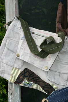 messenger bag from overalls