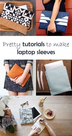 Ohoh Blog - diy and crafts: 5 DIY to try # laptop sleeve Want DIY Laptop Sleeve…