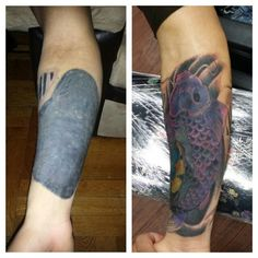 crazy before & after tattoo #coverup @zeustattoo