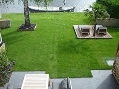 Mooie tuin, zo aan het water.