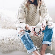 Cozy Winter morning style.