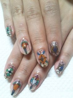 Stained glass nails! <3  by Disco Nails