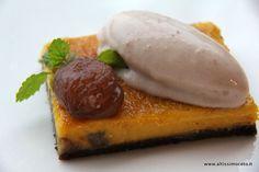 La crema di castagne caramellata con canditi di marroni al whiskey e il suo gelato