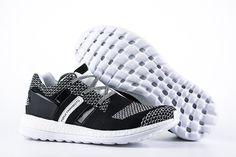 444f82157562 Men s Adidas Y-3 Pureboost Primeknit ZG Knit Shoes Black White AQ5731