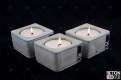 concrete candle holder Beton Kerzenständer Beton Concrete Home Accessories Candle Kerze Teelichte Tealight