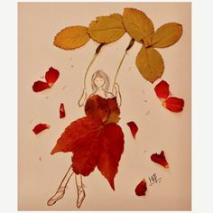 Tree Quotes | Fall Quotes | Forest Quotes | Autumn Art with red leaves by Heena Shrivastava (@heenanik on IG) #fall #artwork #heenashrivastava #treepoetry #treequotes #momsoulsoothers