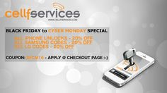 BOOM!!! The Cellfservices Thanksgiving / Black Friday / Cyber Monday SUPER SALE is on!