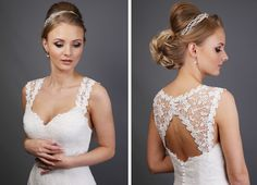 New Guipure Lace Illusion Strap - SH34-2 The perfect way to create the look of an illusion keyhole back.