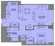 Floor Plan For A One Bedroom Apartment Experience73 In Chicago IL Rental Apartments