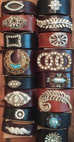 Gorgeous Made in the Deep South leather cuffs!