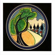 "Clarice Cliff, ""May Avenue"" Vintage Pottery, Pottery Art, Pottery Houses, Vintage Ceramic, Vintage Art, Art Nouveau, Gothic Fantasy Art, Art Studio Design, Art Deco Bathroom"
