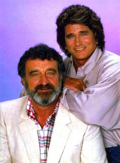 Michael Landon and Victor French in Highway to Heaven, 1984-89