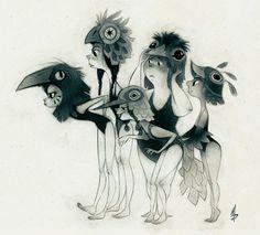 Bird girls, inspired by Moonrise Kingdom
